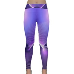 Abstract Fractal 3d Purple Artistic Pattern Line Classic Yoga Leggings