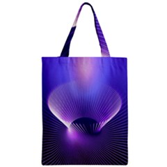 Abstract Fractal 3d Purple Artistic Pattern Line Zipper Classic Tote Bag