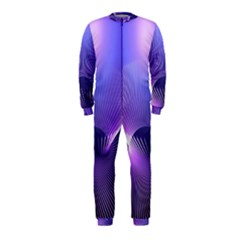 Abstract Fractal 3d Purple Artistic Pattern Line OnePiece Jumpsuit (Kids)