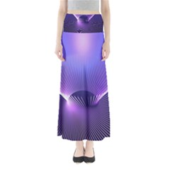 Abstract Fractal 3d Purple Artistic Pattern Line Maxi Skirts