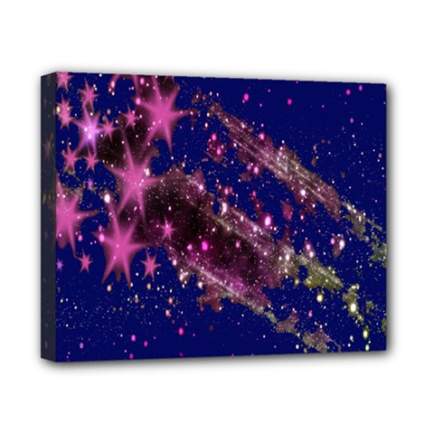Stars Abstract Shine Spots Lines Canvas 10  X 8