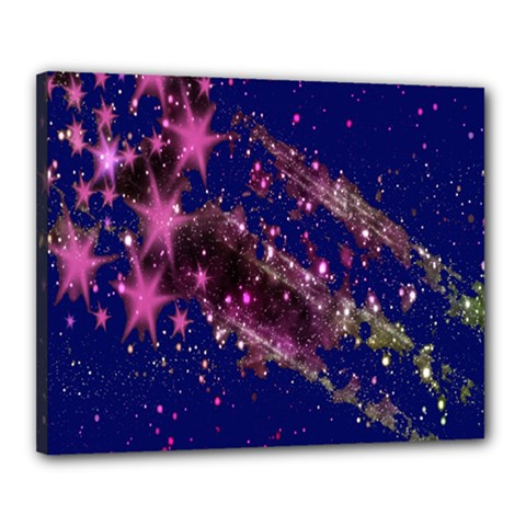 Stars Abstract Shine Spots Lines Canvas 20  X 16