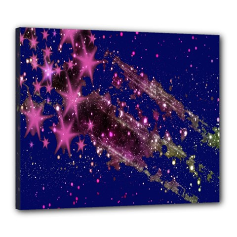 Stars Abstract Shine Spots Lines Canvas 24  x 20