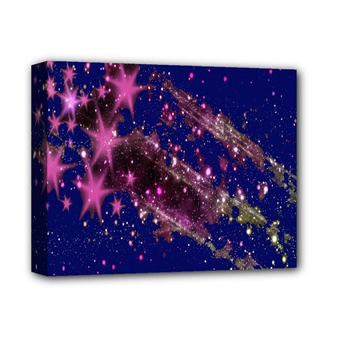 Stars Abstract Shine Spots Lines Deluxe Canvas 14  x 11