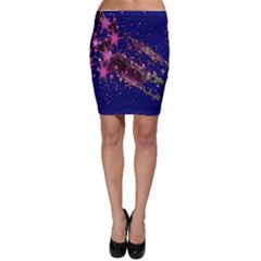 Stars Abstract Shine Spots Lines Bodycon Skirt