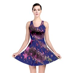 Stars Abstract Shine Spots Lines Reversible Skater Dress