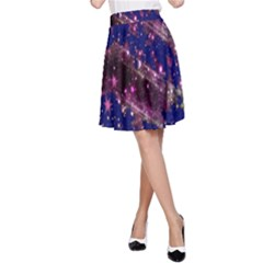 Stars Abstract Shine Spots Lines A-Line Skirt