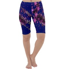 Stars Abstract Shine Spots Lines Cropped Leggings