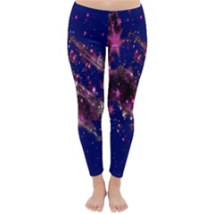Stars Abstract Shine Spots Lines Classic Winter Leggings