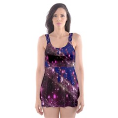 Stars Abstract Shine Spots Lines Skater Dress Swimsuit