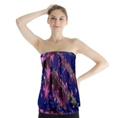 Stars Abstract Shine Spots Lines Strapless Top