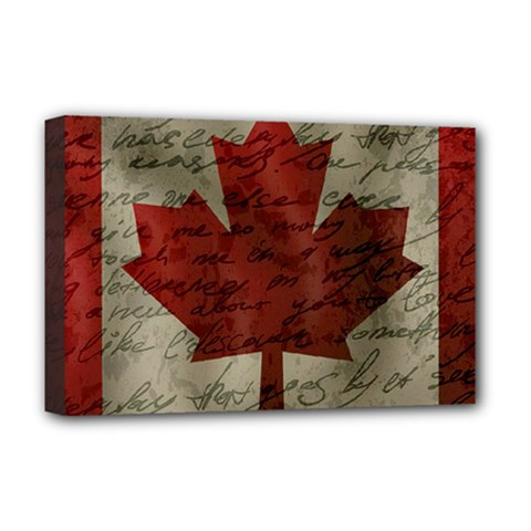 Canada flag Deluxe Canvas 18  x 12