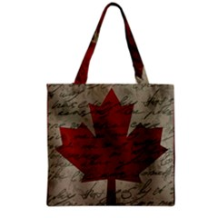 Canada flag Grocery Tote Bag