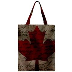 Canada flag Zipper Classic Tote Bag