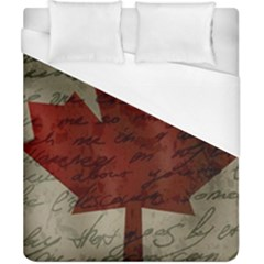 Canada Flag Duvet Cover (california King Size)