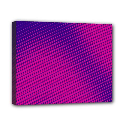Retro Halftone Pink On Blue Canvas 10  x 8