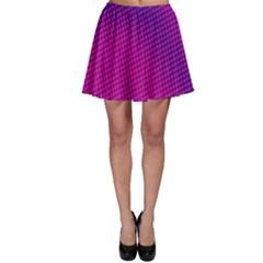 Retro Halftone Pink On Blue Skater Skirt