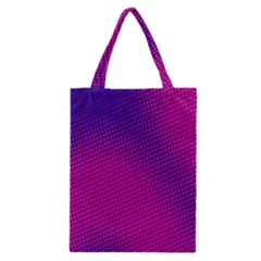 Retro Halftone Pink On Blue Classic Tote Bag