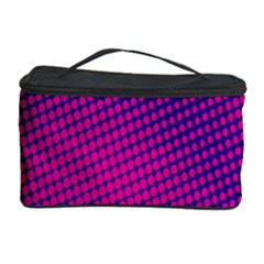 Retro Halftone Pink On Blue Cosmetic Storage Case