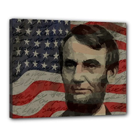 Lincoln day  Canvas 20  x 16