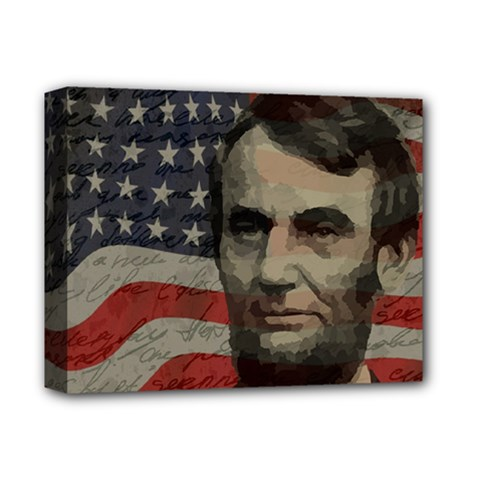 Lincoln day  Deluxe Canvas 14  x 11