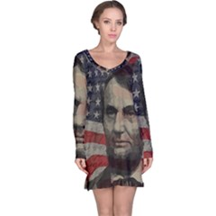 Lincoln day  Long Sleeve Nightdress
