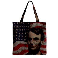Lincoln day  Zipper Grocery Tote Bag