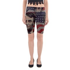 Lincoln day  Yoga Cropped Leggings