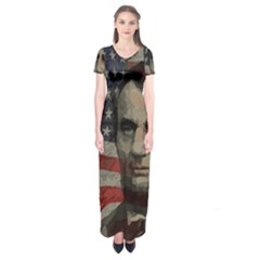 Lincoln day  Short Sleeve Maxi Dress