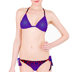 Binary Code Optical Illusion Rotation Bikini Set