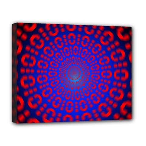 Binary Code Optical Illusion Rotation Deluxe Canvas 20  X 16