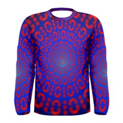 Binary Code Optical Illusion Rotation Men s Long Sleeve Tee
