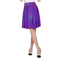 Binary Code Optical Illusion Rotation A-Line Skirt