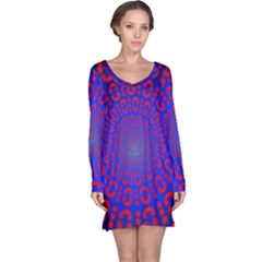 Binary Code Optical Illusion Rotation Long Sleeve Nightdress