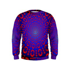 Binary Code Optical Illusion Rotation Kids  Sweatshirt
