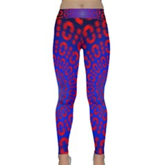 Binary Code Optical Illusion Rotation Classic Yoga Leggings
