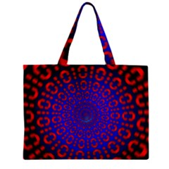 Binary Code Optical Illusion Rotation Zipper Mini Tote Bag