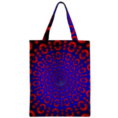 Binary Code Optical Illusion Rotation Zipper Classic Tote Bag