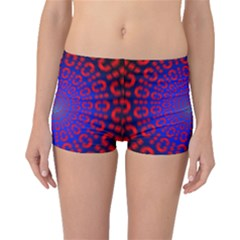 Binary Code Optical Illusion Rotation Boyleg Bikini Bottoms