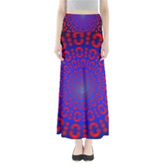 Binary Code Optical Illusion Rotation Maxi Skirts