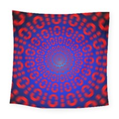 Binary Code Optical Illusion Rotation Square Tapestry (large)