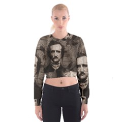 Edgar Allan Poe  Women s Cropped Sweatshirt