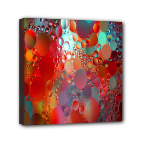 Texture Spots Circles Mini Canvas 6  x 6