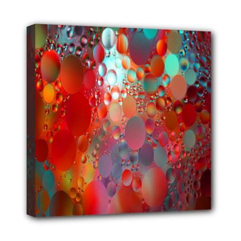 Texture Spots Circles Mini Canvas 8  x 8