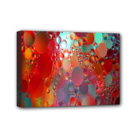 Texture Spots Circles Mini Canvas 7  x 5