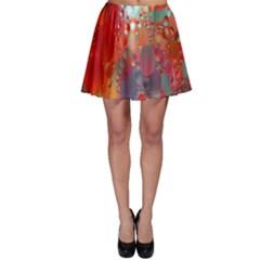 Texture Spots Circles Skater Skirt
