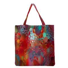 Texture Spots Circles Grocery Tote Bag