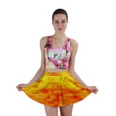 Bright Background Orange Yellow Mini Skirt