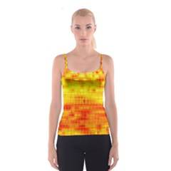 Bright Background Orange Yellow Spaghetti Strap Top