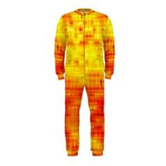 Bright Background Orange Yellow OnePiece Jumpsuit (Kids)